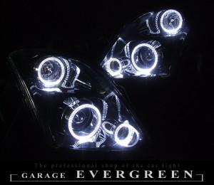 ★ZC31スイフト★高輝度白色LEDイカリング6連装 レンズクリーニング・コーティング済み オーダー加工ドレスアップヘッドライト