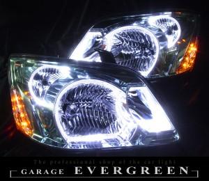 ★60 ノア 後期★高輝度白色LEDイカリング6連装&高輝度橙色LED増発 レンズクリーニング・コーティング済み オーダー加工ドレスアップヘッドライト