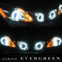 ★GRS19 レクサス GS★白色CCFLイカリング4連装&高輝度橙色LED レンズクリーニング・コーティング済み オーダー加工ドレスアップヘッドライト