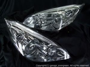 ★RG ステップワゴン★白色CCFLイカリング4連装 社外プロジェクターインストール仕様 レンズクリーニング・コーティング済み オーダー加工ドレスアップヘッドライト
