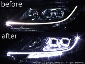 RC1/RC2 オデッセイ コーナーリングライト無しベース スクエアイカリング&増設LED&白色LED打換え 仕様