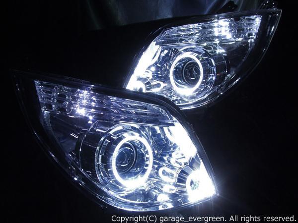 パレット前期 HID車用 XS/T/TS 4連高輝度白色イカリング増設 仕様
