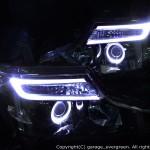 RK1/2/5/6/7 ステップワゴン 後期 ドレスアップヘッドライト 限定色 インナーブラッククロム 増設・打替えLED&ブラック&白色イカリング 仕様