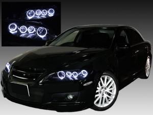 GG/GY系 アテンザ インナー塗装 ブラッククロム インナーブラック&LEDイカリングヘッドライト