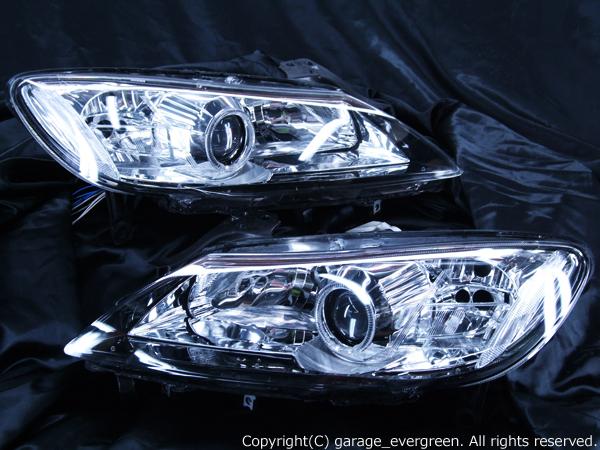 SE3P RX-8 後期 純正HID車用 高輝度白色LEDイカリング&増設高輝度LED 仕様