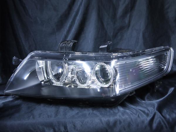 ホンダ CL7/8/9 CM2/3 アコード/アコードワゴン 純正HID車用 純正ドレスアップヘッドライト 6連LEDイカリング&高輝度白色LED12発増設&ウホンダ CL7/8/9 CM2/3 アコード/アコードワゴン 純正HID車用 純正ドレスアップヘッドライト 6連LEDイカリング&高輝度白色LED12発増設&ウィンカークリアィンカークリア