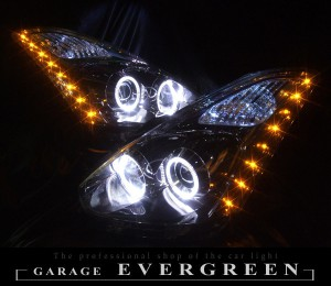 ★10 ウィッシュ 後期★高輝度白色LEDイカリング4連装&高輝度橙色LED増発 レンズクリーニング・コーティング済み オーダー加工ドレスアップヘッドライト