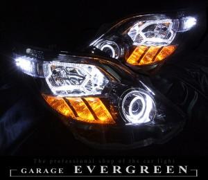 ★20 アルファード 前期/後期★高輝度白色LEDイカリング4連装&高輝度橙色LED&白色LED増発 レンズクリーニング・コーティング済み オーダー加工ドレスアップヘッドライト