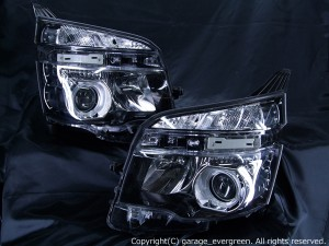 ZRR 70系 VOXY ヴォクシー 後期 HID車用 白色イカリング&増設高輝度LED 仕様