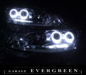 ★レクサス CT★高輝度白色LEDイカリング4連装 レンズクリーニング・コーティング済み オーダー加工ドレスアップヘッドライト