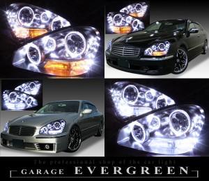 F50シーマ 前期 イカリングバルカンライト 特注生産イカリング6連装&高輝度LED38発 仕様