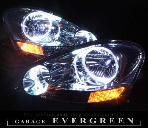 ★20 イプサム 前期★高輝度白色LEDイカリング4連装&高輝度橙色LED増発 レンズクリーニング・コーティング済み オーダー加工ドレスアップヘッドライト