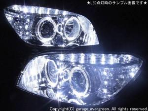 ★トヨタ RAV4★高輝度白色LEDイカリング4連装&高輝度白色LED レンズクリーニング・コーティング済み オーダー加工ドレスアップヘッドライト