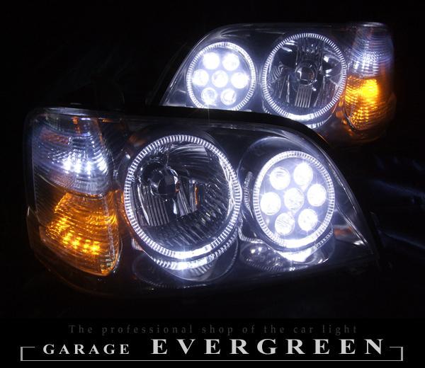 ★17 クラウンアスリート 前期後期★高輝度白色LEDイカリング4連装&高輝度橙色LED&白色LED増発&バルカンプロジェクター仕様 レンズクリーニング・コーティング済み オーダー加工ドレスアップヘッドライト