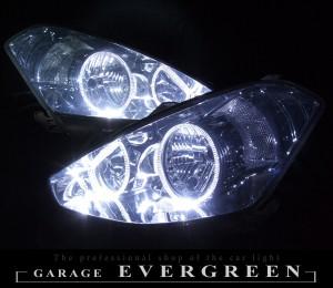 ★T24 カルディナ 前期★高輝度白色LEDイカリング4連装 レンズクリーニング・コーティング済み オーダー加工ドレスアップヘッドライト
