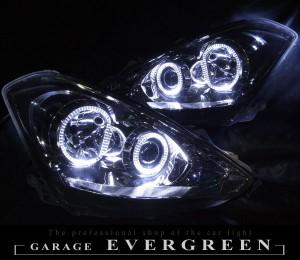 ★T24 カルディナ 後期★高輝度白色LEDイカリング4連装 レンズクリーニング・コーティング済み オーダー加工ドレスアップヘッドライト