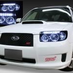 SG5 フォレスター後期 HID車用ヘッドライト イカリング4連装&高輝度LED増設 仕様