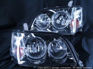 17系クラウン アスリート ヘッドライト 4連イカリング&クリスタル&増設高輝度LED仕様