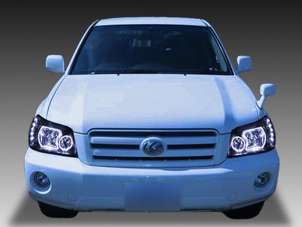 クルーガー 後期 LEDクリアドレスアップヘッドライト 限定色 インナーブラッククロム インナー塗装&4連イカリング&高輝度LED 仕様