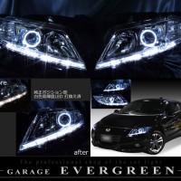 CR-Z ZF1/ZF2 前期/後期 純正HID車用 純正加工 ドレスアップヘッドライト ポジションLED純白色替え&LEDイカリング 仕様