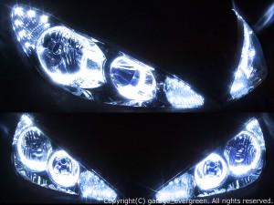 HID付■アエラス 30エスティマ後期 LEDイカリングヘッドライトEG