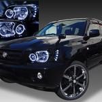 クルーガー 後期 LEDクリアドレスアップヘッドライト <限定色 インナーブラッククロム>純正加工品 インナー塗装&4連イカリング&高輝度LED 仕様
