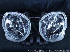 JZZ30/JZZ31/UZZ30/UZZ31/UZZ32 30系 ソアラ ■Hi/Lowセット■<インナーブラッククロム> 純正加工品 ブラック&サイドクリア ドレスアップヘッドライト