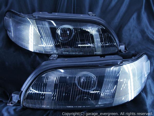 UZS143/JZS147 14系アリスト 後期ベース  <限定色 インナー塗装ブラッククロム> 純正加工品 ブラック&ウィンカークリア 仕様 ヘッドライト
