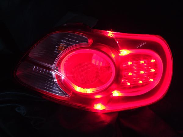 ヘッドライト現物加工 ポルテテール ファイバー