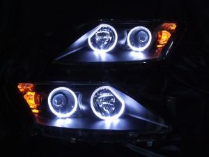 ヘッドライト現物加工 RX-7 LEDイカリング