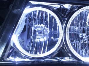 現物加工 キャンピングカー24Vコースター トラックバス  LEDイカリングヘッドライト