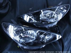 ACR/MCR 30/40 エスティマ 前期 HID車用 <純正HID バーナー・バラスト付き> アエラス ブラックインナーベース ウィンカークリア仕様 純正加工品 ドレスアップヘッドライト