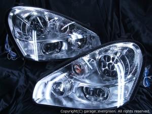 日産 50系シーマ 中期・後期 HID・AFS車用  GF50(FR)/HF50(FR)/GNF50(4WD) 8連高輝度白色LEDイカリング