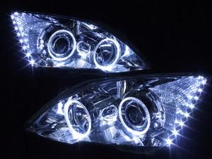 現物加工 RE3 RE4 CR-V  白色&LEDイカリングヘッドライト