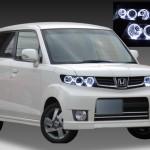 ホンダ JE1/JE2 ゼストスパーク 純正HID車用 純正ドレスアップヘッドライト 6連高輝度白色LEDイカリング