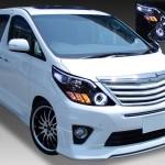 トヨタ 20系 アルファード/アルファードハイブリッド 前期/後期 AFS無車用 2連LEDイカリング&高輝度白色LED20発増設&LEDアクリルイルミファイバー