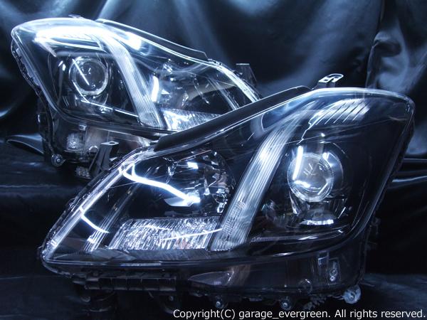 トヨタ 200系 クラウン アスリート 前期/後期 純正HID車用 純正ドレスアップヘッドライト 白色LEDイカリング&超高輝度白色LED20発増設