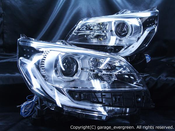 三菱 B11A eKスペース カスタム LEDイカリング&超高輝度白色LED18発増設&純正ポジションLED色替え