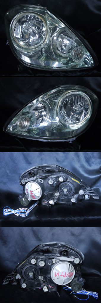 トヨタ 10系 ブレビス 純正HID車用 前期/後期 全年式 全グレード 純正ドレスアップヘッドライト 6連高輝度白色LEDイカリング