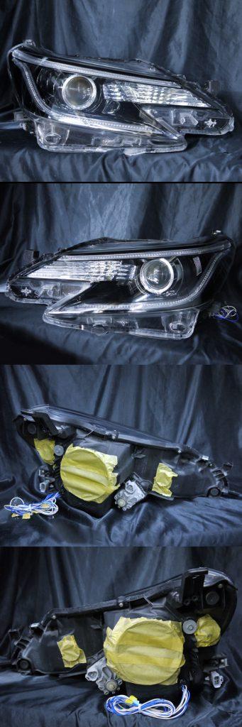 トヨタ 130系 マークX 後期 純正HID車用 純正ドレスアップヘッドライト 白色LEDイカリング&高輝度白色LED12発増設&純正ラインポジション部白/橙LED切換え加工&インナーブラッククロムトヨタ 130系 マークX 後期 純正HID車用 純正ドレスアップヘッドライト 白色LEDイカリング&高輝度白色LED12発増設&純正ラインポジション部白/橙LED切換え加工&インナーブラッククロム