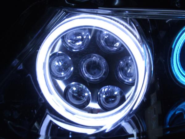 RB12オデッセイ SEリング&バルカン LEDヘッドライト加工