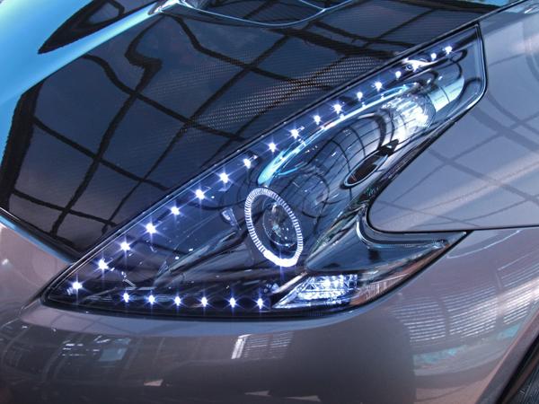 z34フェアレディ フルブラック&LED&イカリング ヘッドライト