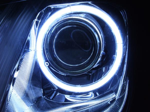 クラウンロイヤルGRS20 COBイカリングヘッドライト加工