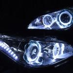 Y51フーガ サイドマーカー内LED増発イカリングヘッドライト