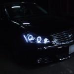 50フーガGT フルブラック&LED&イカリングヘッドライト