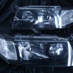 シャリオグランディス インナーマットブラック(艶消しブラック)ヘッドライト加工