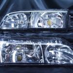 S14シルビア前期ヘッドライト 社外クリスタルレンズ面スワップ加工