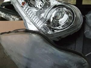18系 クラウン マジェスタ ヘッドライト レンズ面新品交換