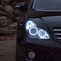 CLS COBイカリング&インナーブラック ヘッドライト加工