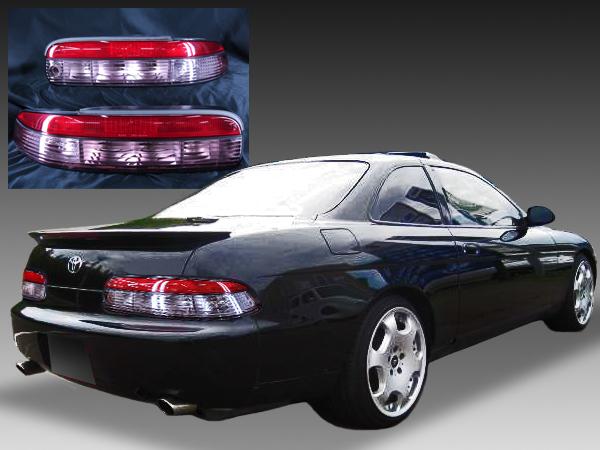 トヨタ 30系 ソアラ 中期ベース 純正ドレスアップテールライト ハーフクリスタル スーパークリア